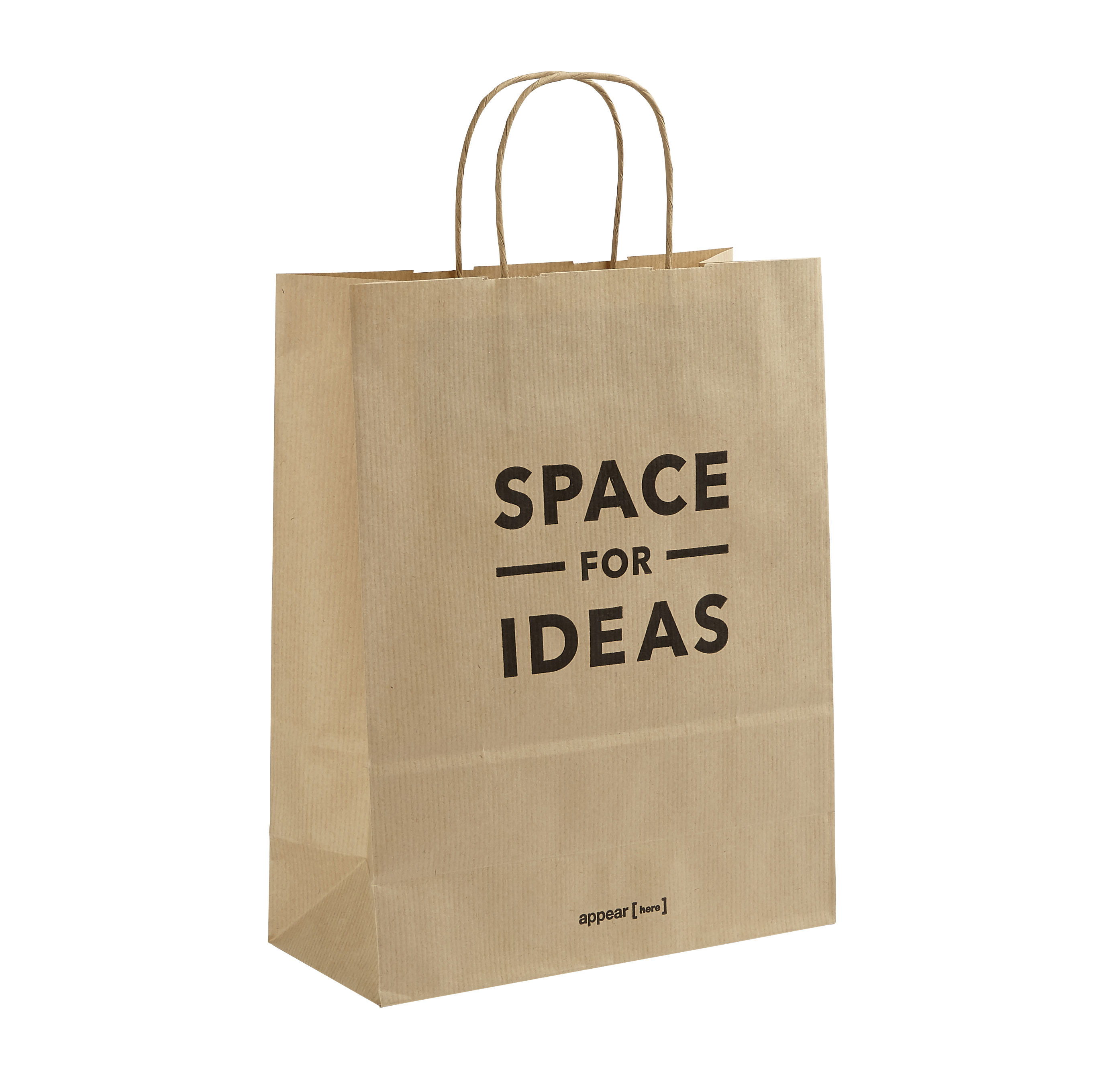 Space for Ideas Kraft Paper Carrier Bag