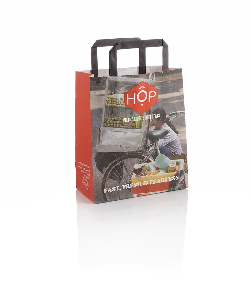 Hop Custom Tape Handle Kraft Bag