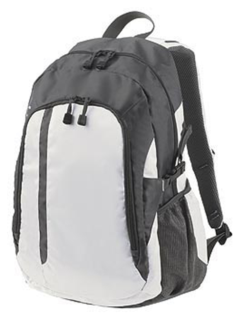 Galaxy Backpack in White and Grey