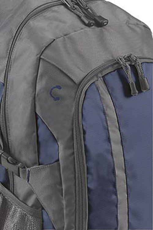 Closeup of Galaxy Backpack in Blue