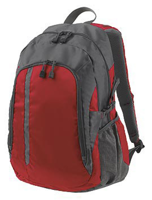 Galaxy Backpack in Grey and Crimson
