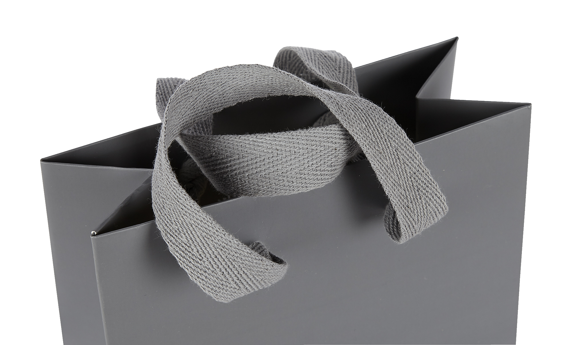 Grey Cotton Tape Handle on a bag